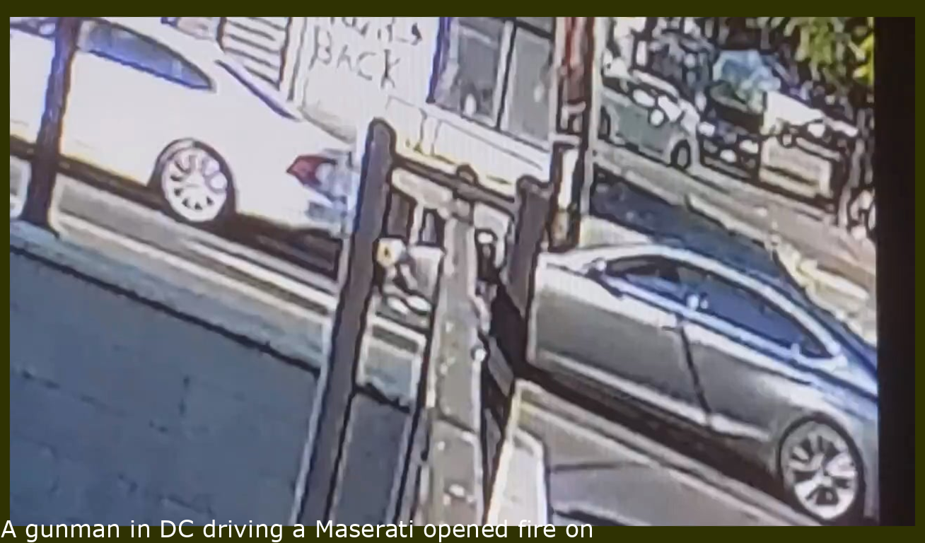 A gunman in DC driving a Maserati opened fire on a mother just for cutting him off. She had her 2 kids in the car and was shot in the shoulder. More below