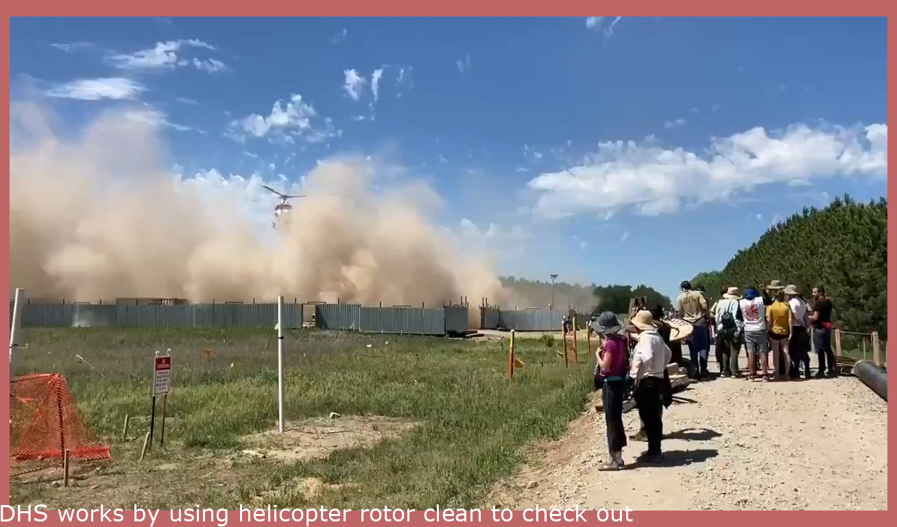 DHS uses helicopter rotor wash to try to clear out media and protesters at the line 3 protest in MN.