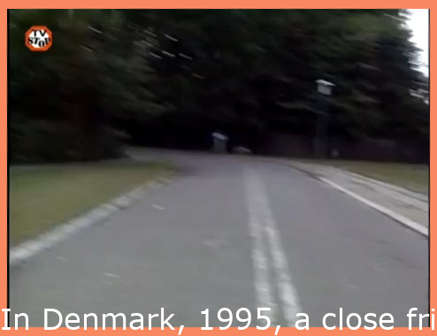"""In Denmark, 1995, a friend of a prisoner drove a stolen wheel loader through a prison wall and helped 12 prisoners escape. The cameraman was tipped off about an hour prior to the escape with the only message """"Somethings about to go down, you might wanna film this""""."""