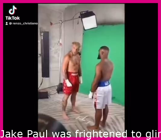 Jake Paul was scared to look Tyron Woodley in the eyes during their promo photoshoot for the August boxing fight