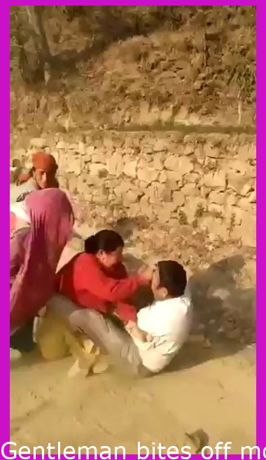 Man bites off more than he can chew in India