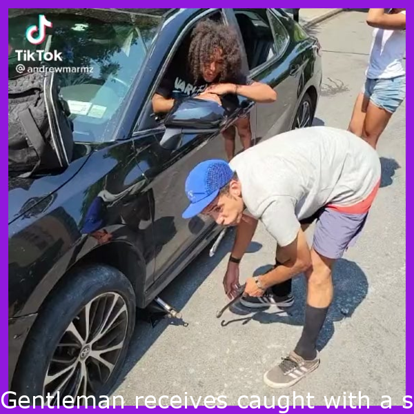 Man gets caught with a stolen car by the owner of the vehicle