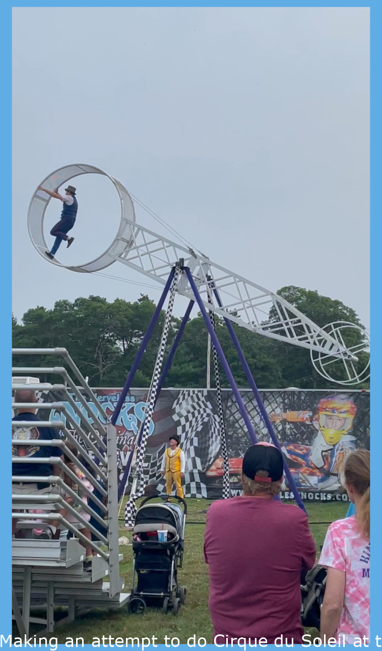 Trying to do Cirque du Soleil at the Fairground Carny