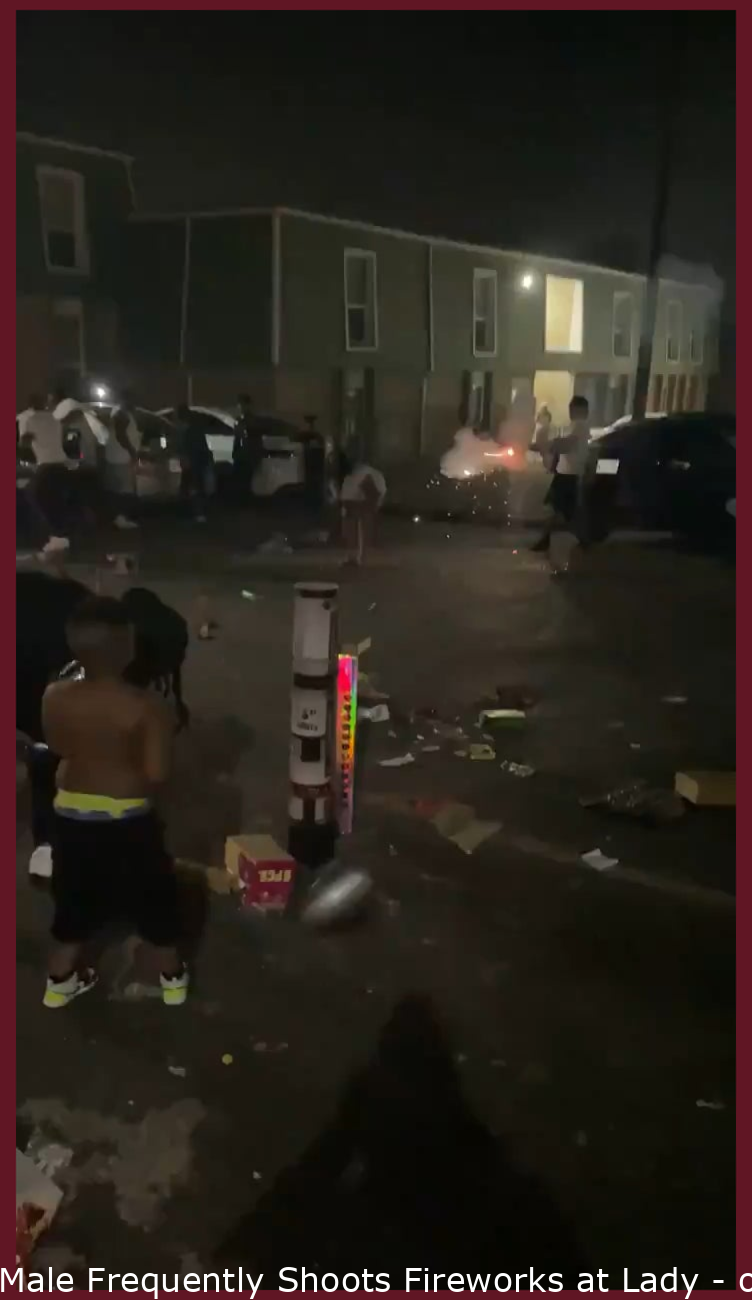 Man Repeatedly Shoots Fireworks at Woman