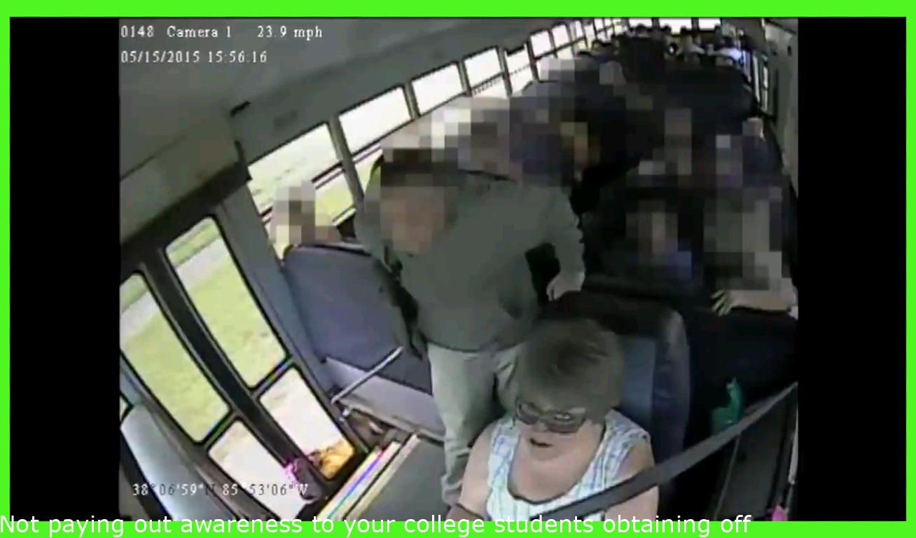 Not paying attention to your students getting off the bus.