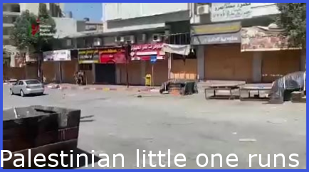 Palestinian child runs away from Israeli soldiers, attempt to shoot him