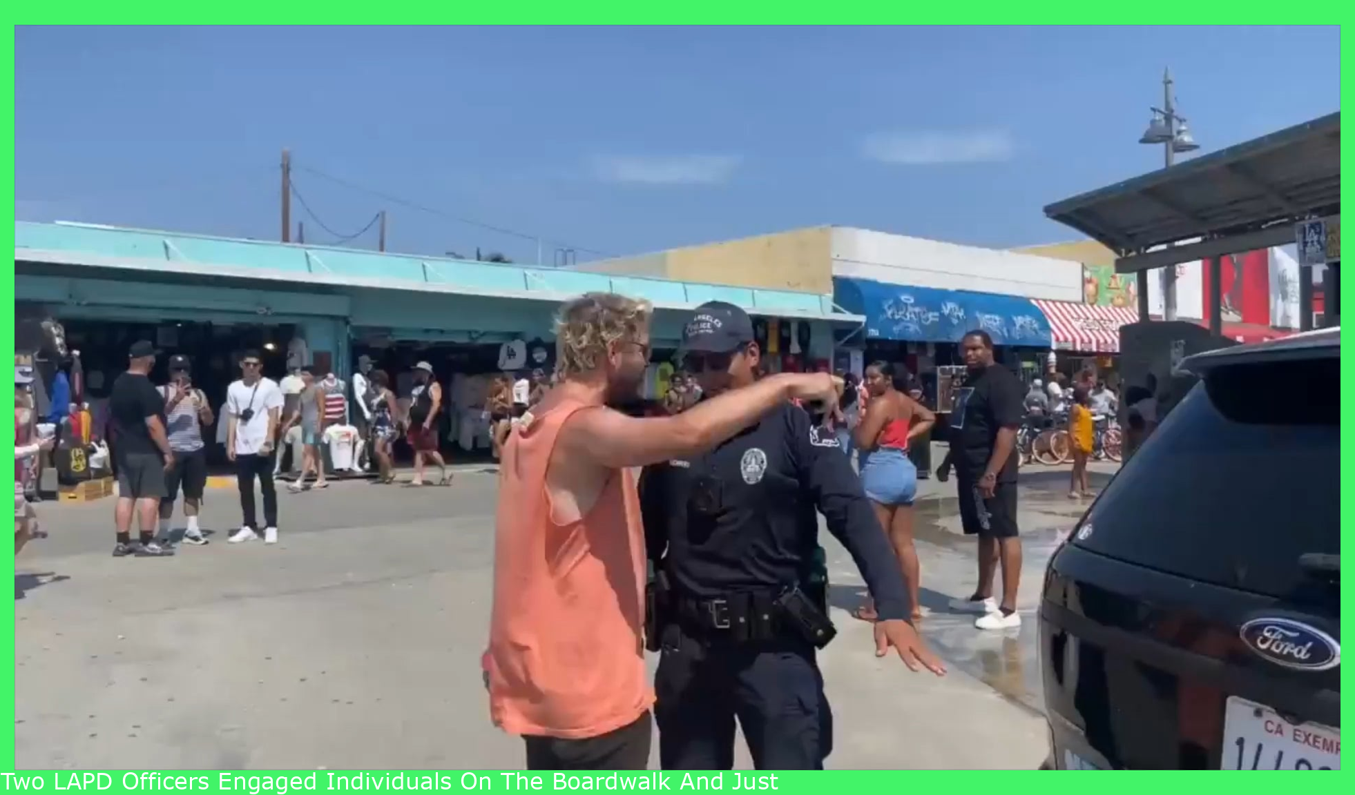 """Two LAPD Officers Engaged People On The Boardwalk And One Man Forced Them To Back down stating """" Police Don't Own Public Space"""""""