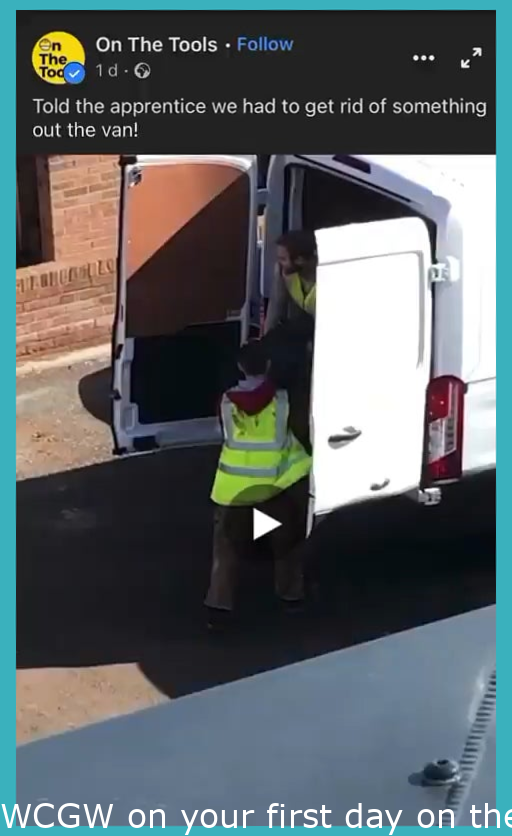WCGW on your first day on the job.