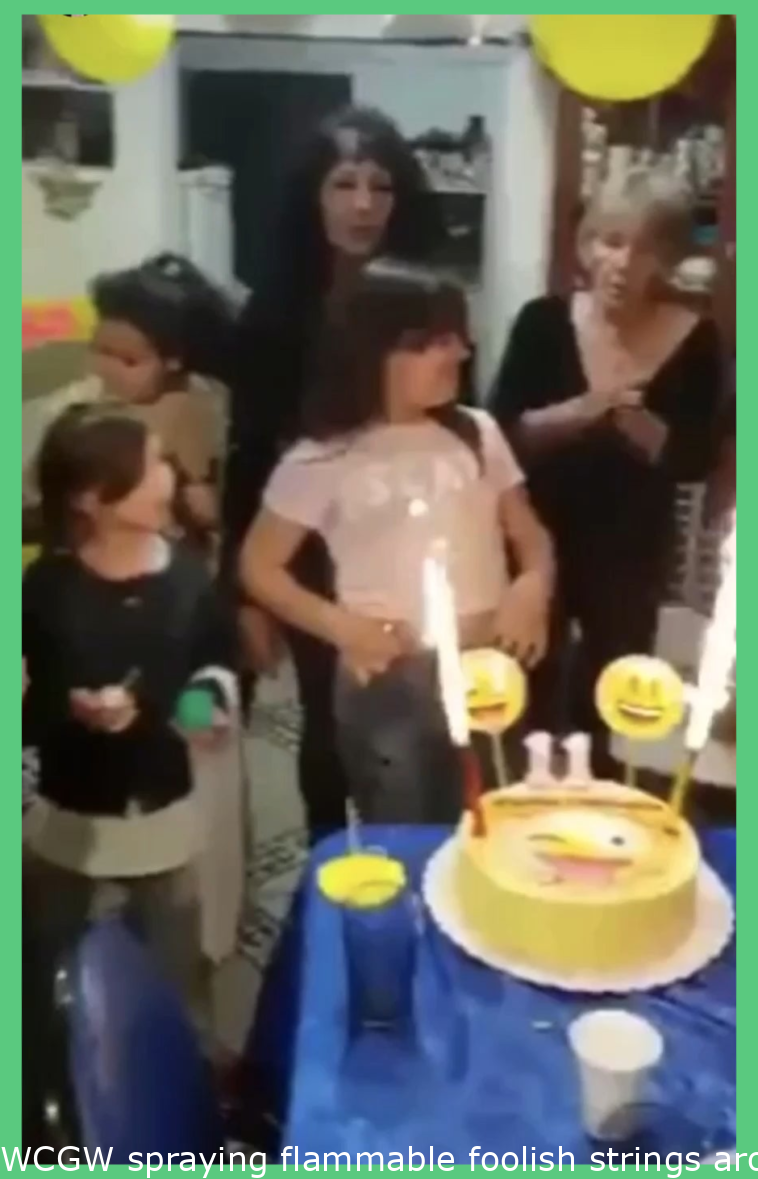 WCGW spraying flammable silly strings around sparkler candles