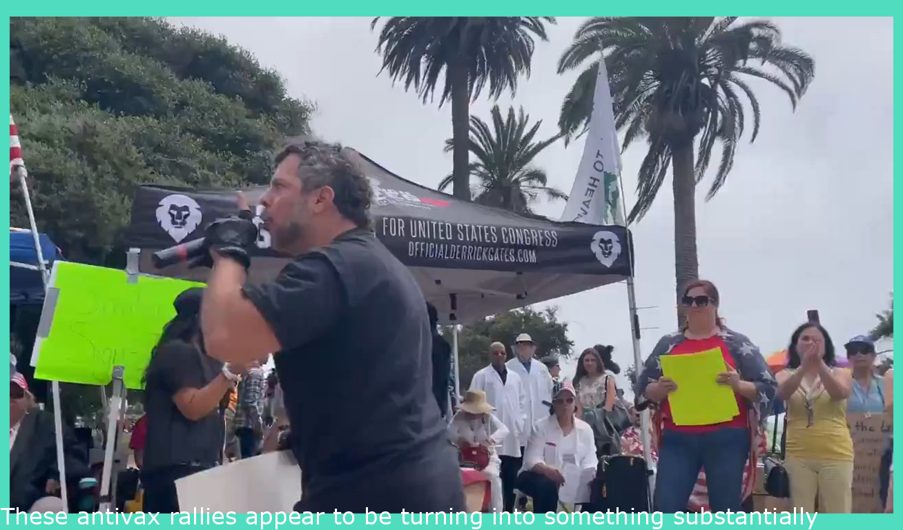 These antivax rallies seem to be turning into something much more insane.