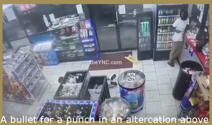 A bullet for a punch in an altercation over which Mountain Dew taste best