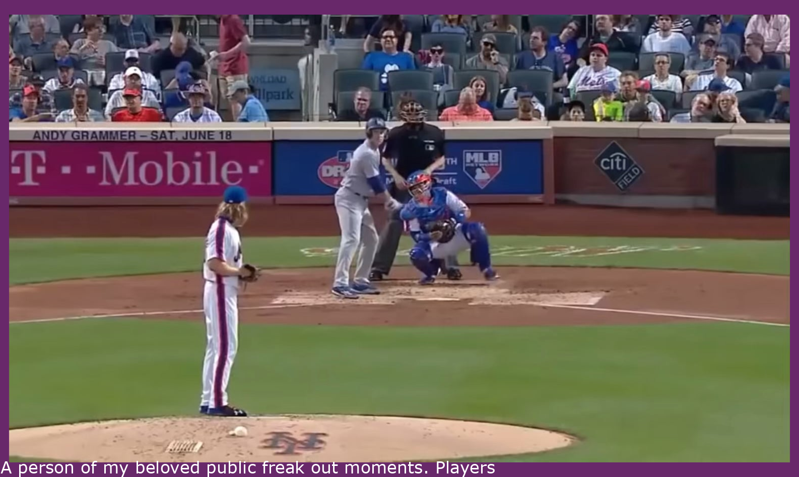 One of my favorite public freak out moments. Players and Umps mic'd up