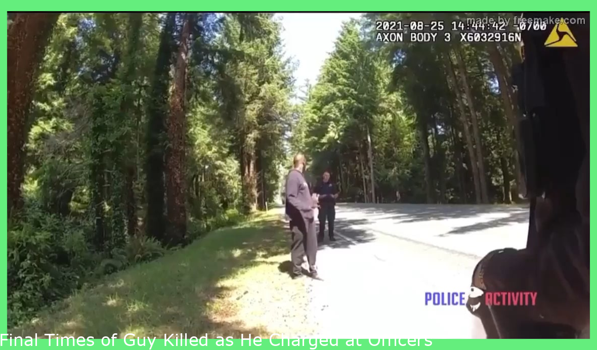 Final Moments of Man Killed as He Charged at Officers With a Knife