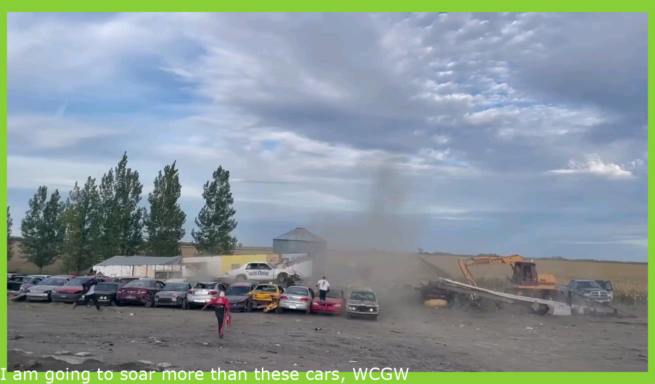 I'll jump over these cars, WCGW