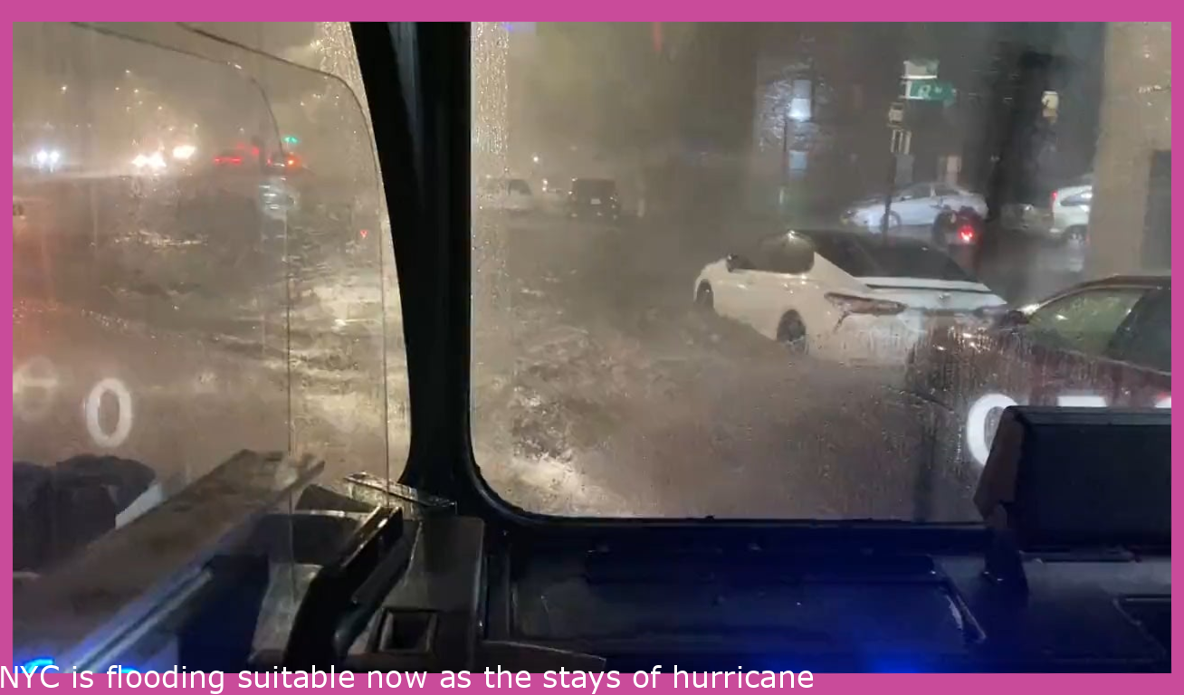 NYC is flooding right now as the remains of hurricane Ida deposited 5 inches of rain per hour over parts of the city.