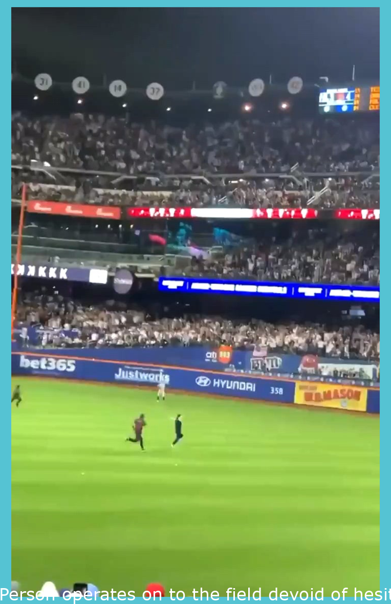 Guy runs onto the field without hesitation and breaks a few of the security guards ankles with his speed.