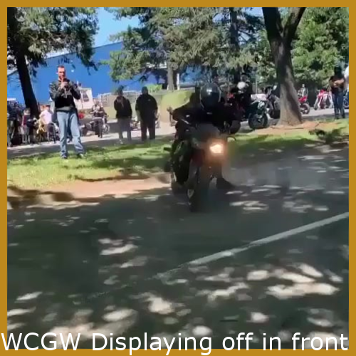 WCGW Showing off in front of friends Your bike skills