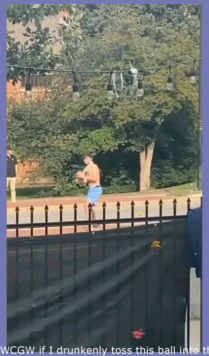 WCGW if I drunkenly throw this ball into the air