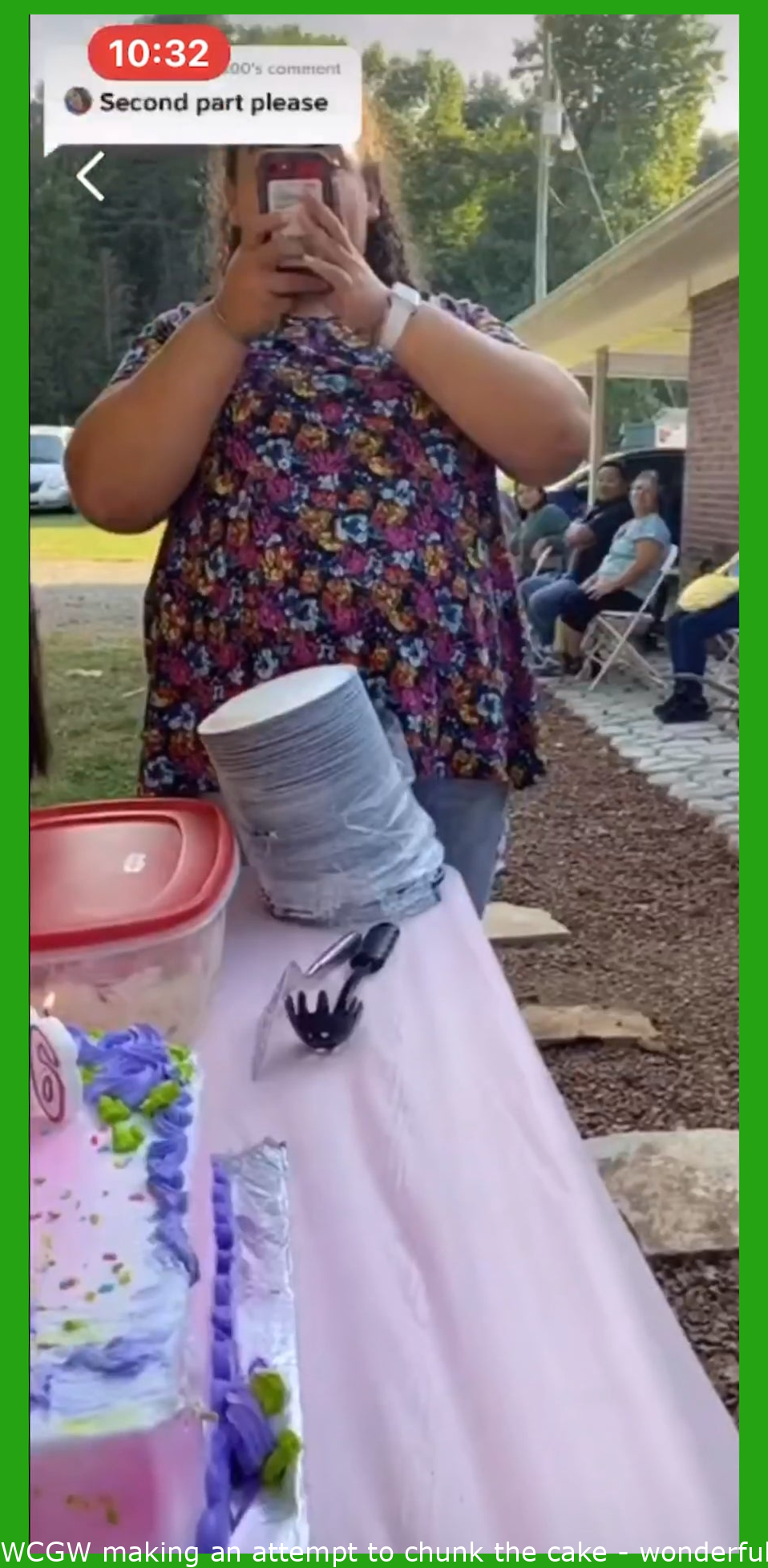 WCGW trying to bite the cake