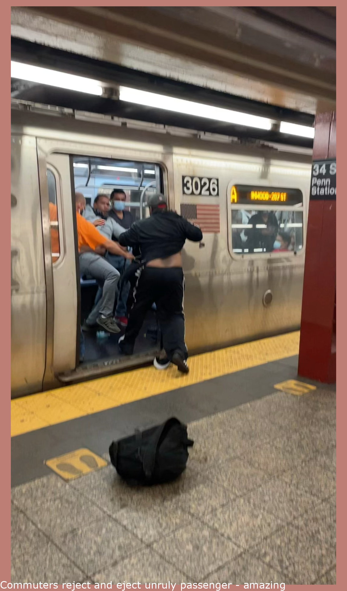 Commuters reject and eject unruly passenger