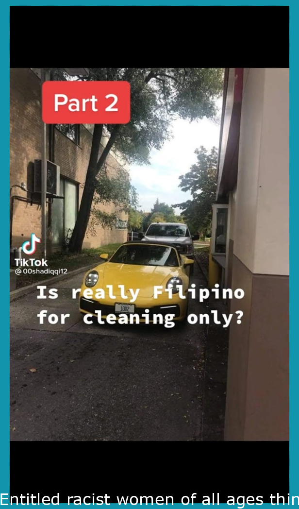 Entitled racist women thinks Filipinos only clean.