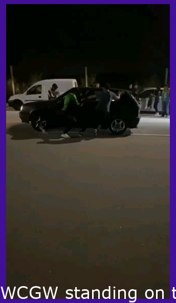 WCGW standing on the road