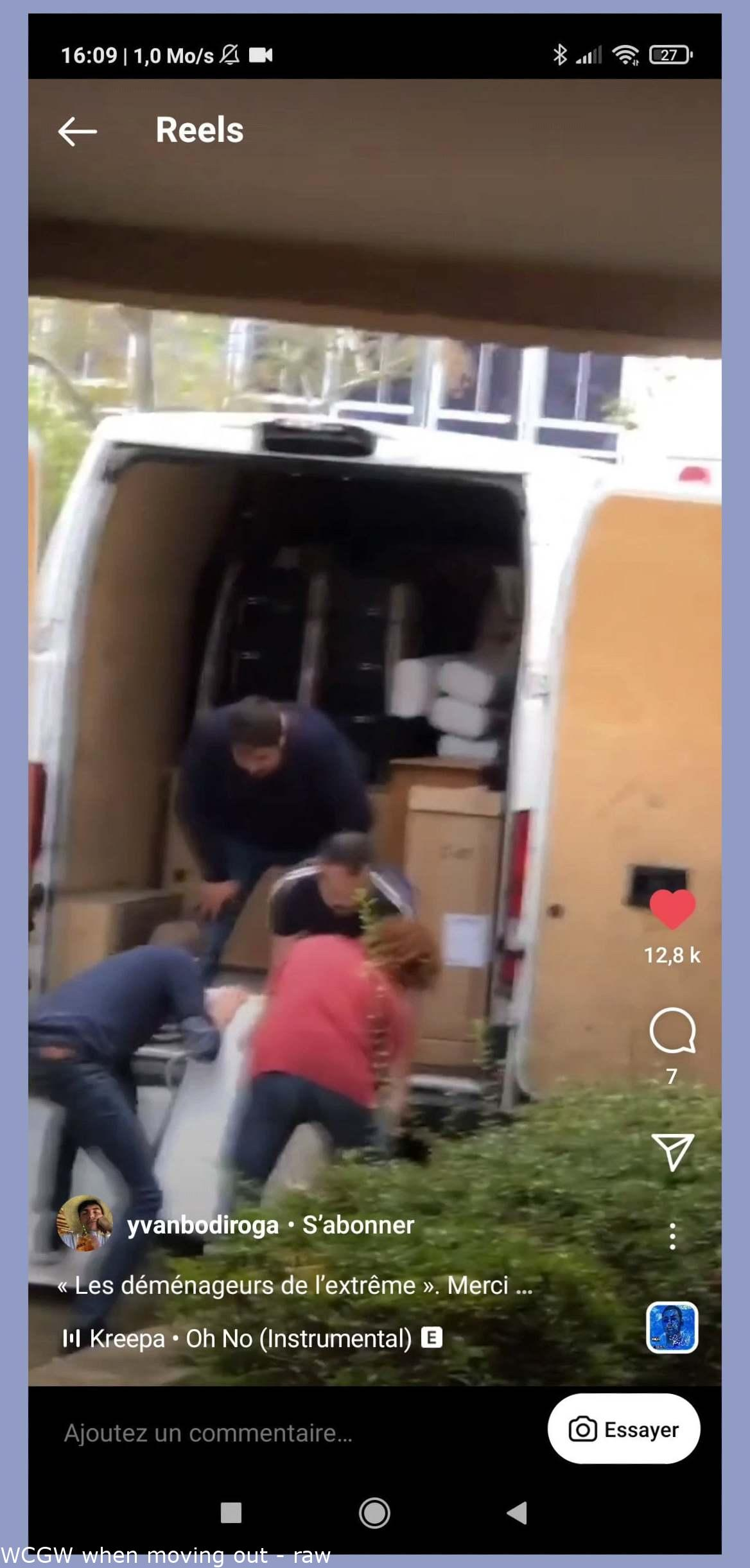 WCGW when moving out